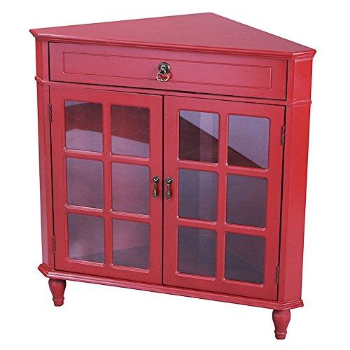 red corner cabinet - 8