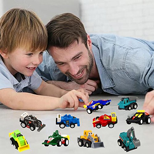 Pull Back Car, 20 Pcs Assorted Mini Truck Toy and Race Car Toy Kit Set, Funcorn Toys Play Constructi - http://coolthings.us