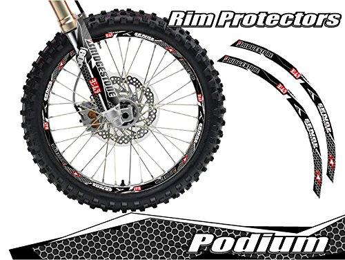 Senge Graphics Podium Black rim protector set for one 19 inch rim and one 21 inch rim