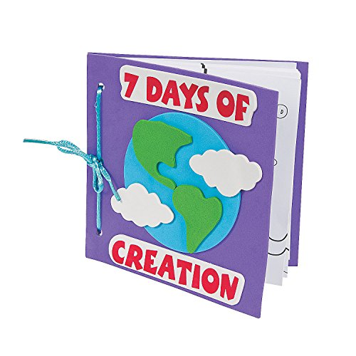 Fun Express Color Your Own Book About the 7 Days of Creation Craft Kit