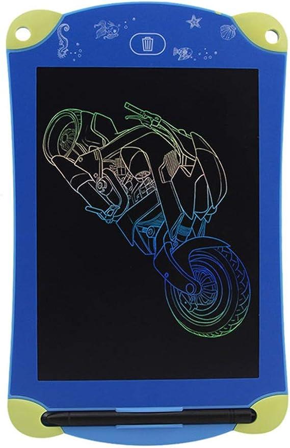 軽量液晶ライティングボード カラフル8.5インチ液晶タブレット子供の漫画のグラフィティボードLCD便利なライティングボード電子グラフィックタブレット 使いやすい (色 : Blue, Size : 8.5 inches)