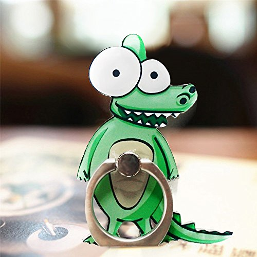 Cell Phone Finger Ring Holder Cute Animal Smartphone Stand 360 Swivel for iPhone, Ipad, Samsung HTC Nokia Smartphones, Tablet (Crocodile)