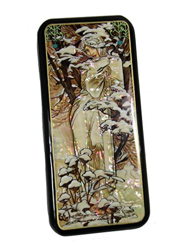 (Russian Lacquer Box Art Nouveau Style after Painting of MUCHA #4129)