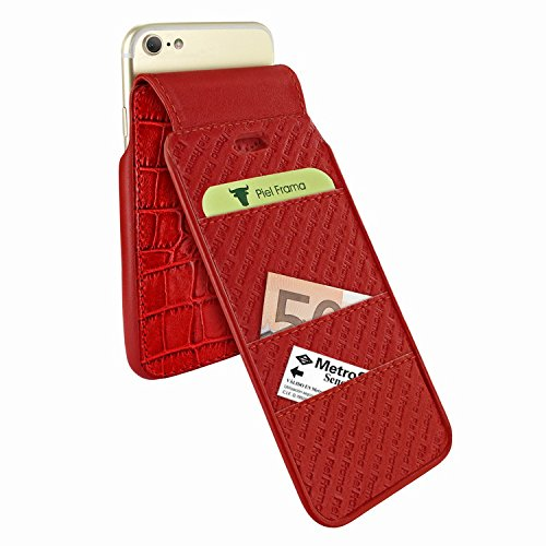 Piel Frama 760 Red Crocodile iMagnumCards Leather Case for Apple iPhone 7 / 8 by Piel Frama (Image #3)
