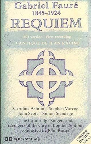 GABRIEL FAURE: Requiem & Cantique De Jean Racine Cassette Tape