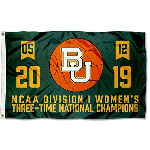 College Flags and Banners Co. Baylor Bears 2019 Womens Basketball National Championship Flag