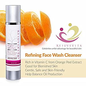 Aloe-based Anti Aging Refining Face Wash, 120ml Airless – the Best Facial Cleanser to Add on Your Facial Cleanser Kit for Women Who Wants to Fight Skin Aging with Its Gentle Formula + Vitamin C – This Facial Cleanser Is Organic and Packed with Essential Oils to Balance Skin Moisture Like Rose Hip Seed Oil + Rosemary Extract + Olive Oil + Clover Extract That Can Bring Out Extra Moisture on Your Face – It Has a Calming Property Caused By the Relaxing Aroma of Lavender Oil, Best for Combination & Oily Skin Types, Facial Wash Solution for Blemished Skin, Guaranteed Safe and Effective for the Skin, Dermatologist Tested.