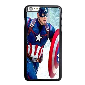 Generic Fashion Hard Back Case Cover Fit for iPhone 6 6S plus 5.5 inch Cell Phone Case black Captain America Steven PKL-6030537