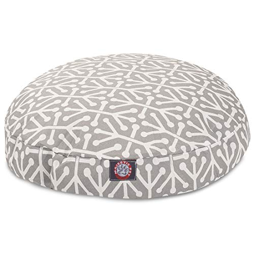 Gray Aruba Small Round Indoor Outdoor Pet Dog Bed With Removable Washable Cover By Majestic Pet Products