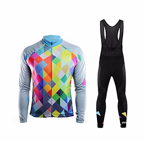 (Uglyfrog 2017 UG6 New Classical Thermal Fleece Winter Long Sleeve Cycling Jersey+Long Pant Set Mountain Triathlon Clothing)