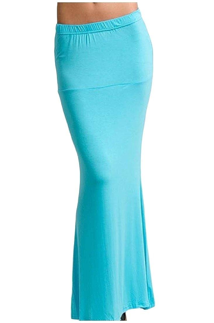Andopa Sirena más el tamaño de cuerpo entero color puro falda del ...
