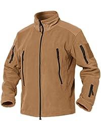 """<span class=""""a-offscreen"""">[Sponsored]</span>Men's Full Zip Stand Collar Tactical Fleece Jacket"""