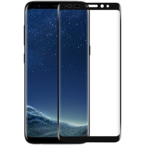 Galaxy S8+ Screen Protector, Wesoo Tempered Glass Curved Edge Full Coverage 3D Screen Protector for Samsung Galaxy S8+ Plus (6.2 inch)