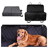 Seat Cover Pet Dog Car Back Waterproof, Non-slip, Machine Washable Barrier Dog Hammock Protector Mat Blanket for Travel Black (Without Side Flaps,60″x58″-Large)