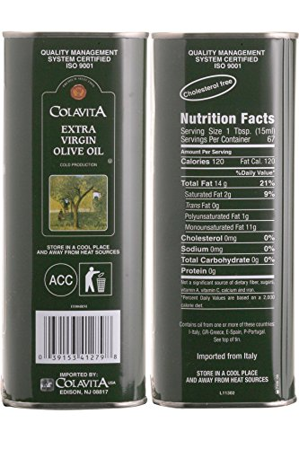Colavita Extra Virgin Olive Oil, 34-Ounce Tins (Pack of 2) by Colavita (Image #4)