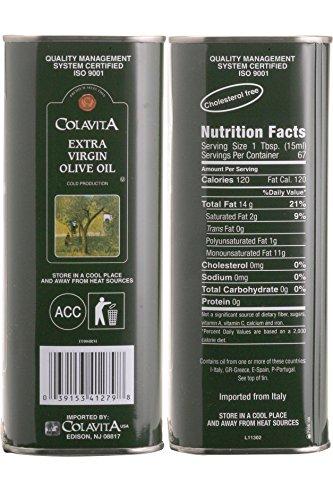 Colavita Extra Virgin Olive Oil, 34 oz Tins (Pack of 2) by Colavita (Image #3)
