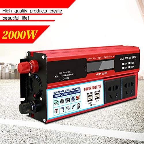 ZM&M Car Power Inverter 300W DC 12V to 220V AC Converter with 4 USB Car Charger,for Laptop,Camera,Smartphone,Household ()
