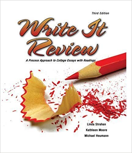 Write It Review: A Process Approach to College Essays with Readings by STRAHAN LINDA (2009-06-15)