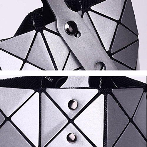 Main Sacs Messenger En Pink Géométriques épaule à Mesdames Cuir Sacs AJLBT Verni Laser Sacs Sacs Diamants wqIy1xtHpH