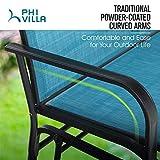PHI VILLA 2 Seats Patio Glider Bench, Outdoor Swing
