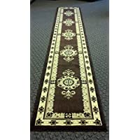 Traditional Long Runner Rug Brown Design #121 (32in.x19ft.8in.)