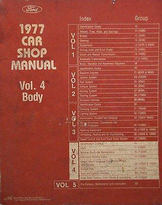 - 1977 Ford Car Shop Manual - Body - Volume 4