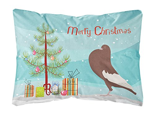 Pillow Pigeon - Caroline's Treasures BB9321PW1216 English Pouter Pigeon Christmas Outdoor Canvas Pillow