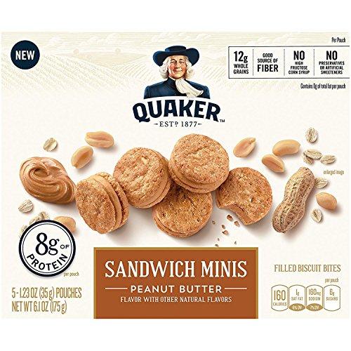 Quaker Sandwich Minis, Peanut Butter, 3.5 Pound  (6 - Mini Sandwich