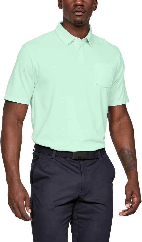 Under Armour CC Scramble Polo, Hombre, Azul (Aqua Foam/Aqua Foam ...