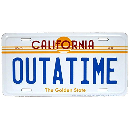 Signs 4 Fun Slcot Outatime, License Plate (Delorean License Plate Back To The Future)