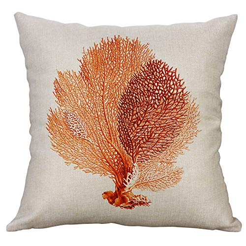 Alimao Marine Life Coral Sea Turtle Seahorse Whale Octopus Cushion Cover Pillow Cover Clearance sale (Manual Marine Drill)