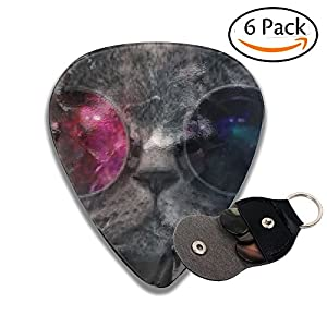 Galaxy Cat With Sunglass Mens Women's Classic Heavy