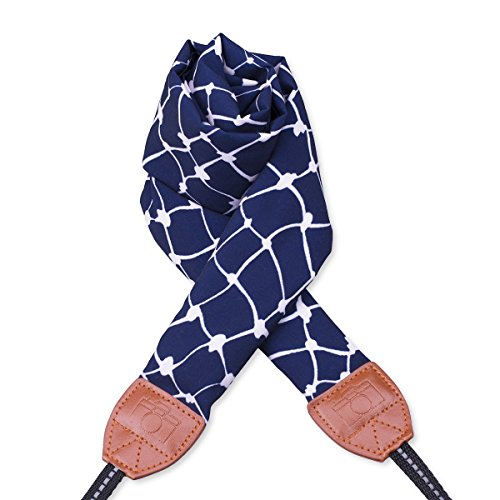 LONGTEAM Camera Strap, DSLR Camera Strap Universal Neck Shoulder Comfortable Scarf Camera Strap for Women (Sapphire Blue)