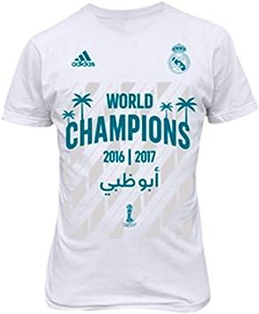 adidas Real Madrid FIFA World Champion 2017 Niño, Camiseta, White: Amazon.es: Deportes y aire libre