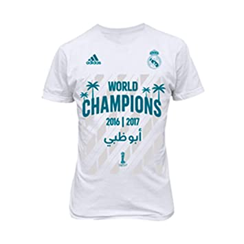 Adidas Real Madrid FIFA World Champion 2017, Camiseta, White: Amazon.es: Deportes y aire libre