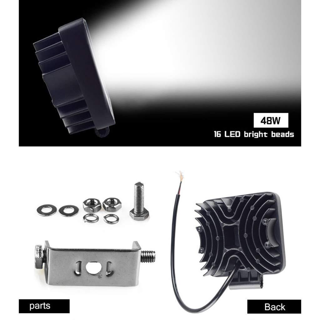 luce da lavoro a LED per SUV barra da 10,2 cm 16 LED Fari per veicoli da 48 W luce bianca fredda