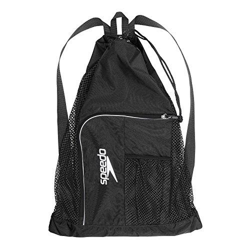 Speedo Swim Deluxe Ventilator Mesh Equipment Pool Gear Bag - Insignia Blue Navy D