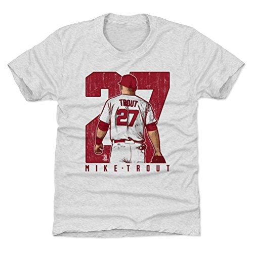 500 LEVEL Los Angeles Baseball Youth Shirt - Kids Medium (8Y) Tri Ash - Mike Trout Clutch R