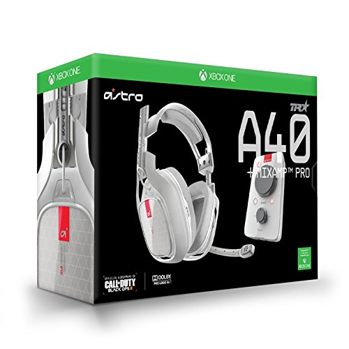 Astro Gaming 3AS4T-XOU9W-504 A40TR Wired Surround Sound Gaming Headset + MIXAMP Pro for Xbox One and Windows White