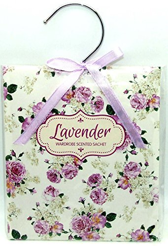 Scented Wardrobe Hanger - Scented Sachet in - Lavender Scent by TJM
