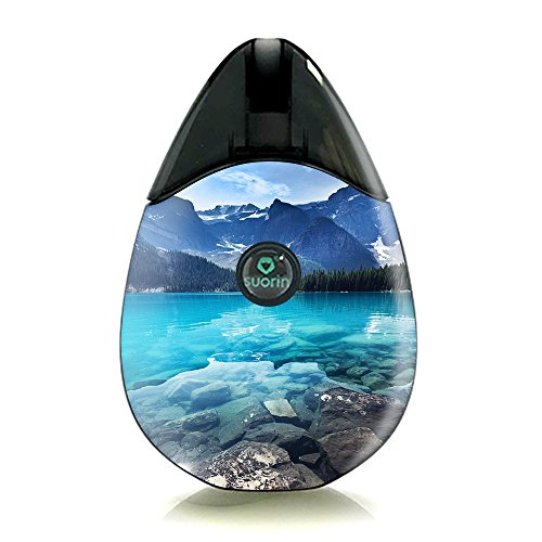 Skin Decal Vinyl Wrap for Suorin Drop Vape Kit skins stickers cover/ Mountain lake, clear water