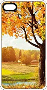 Fall Tree In The Country White Rubber Case for Apple iPhone 6