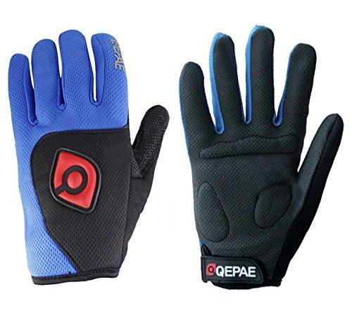 QEPAE Full Finger Non-Slip Gel Pad Gloves Men's Women's Sportswear Cycling Riding Gloves Breathable