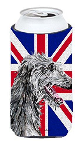 Scottish Deerhound with English Union Jack British Flag Tall Boy Beverage Insulator Hugger SC9871TBC
