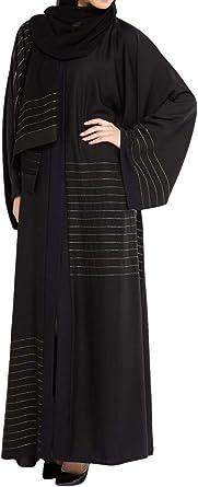 4541ca8bc Arabeska Abaya For Women - M, Black: Amazon.ae: Sara-Store
