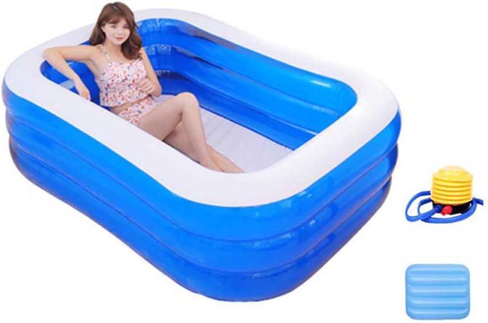 Folding Bathtub NAUY@ PVC de Eco sin la bañera Plegable Inflable de la Cubierta para el Uso Interior/al Aire Libre Accesorios de baño (Tamaño : 1.95m Ordinary Model - Electric Pumps)