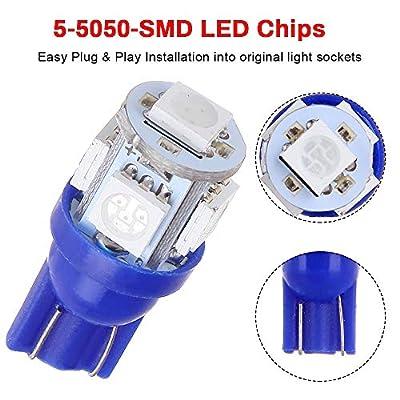 cciyu Replacement fit for BMW 7 Series E65 E66 750li 2003-2008 Package Kit Blue LED Interior Light Accessories Replacement Parts 18 Pcs: Automotive