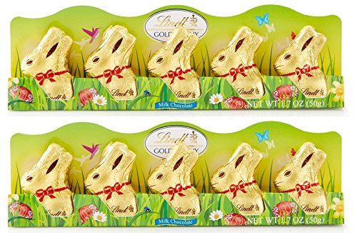 Lindt Mini Gold Bunny Milk Chocolate 1.7oz 5-count