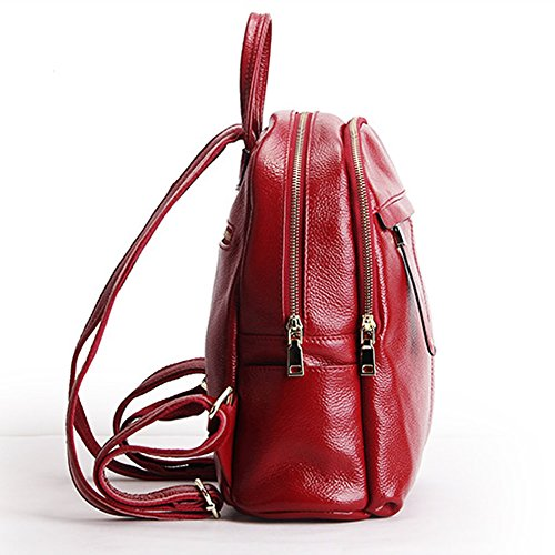 main portés dos femme Sac Valin 15825 en Rouge Sac LF à cuir fashion vaPBIaq