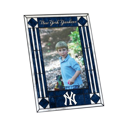 (MLB New York Yankees Art Glass Frame)